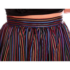 Vintage Skirt Black w/ Bright Primary Stripes 1940's XS - The Best Vintage Clothing  - 3
