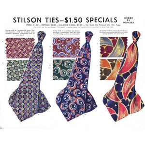Vintage Stilson Necktie Tie Ad 1940'S 8X11  A2 - The Best Vintage Clothing