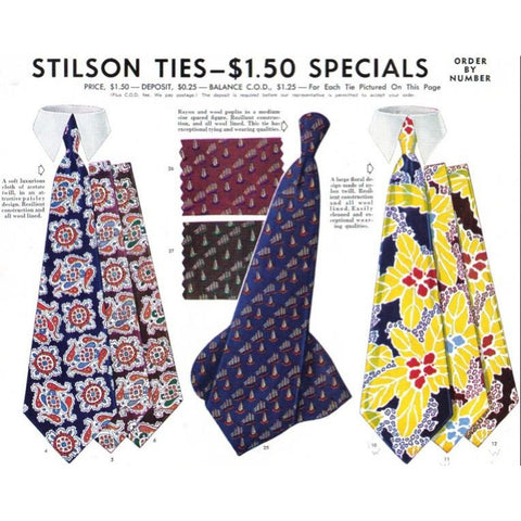 Vintage Stilson Mens Tie Ad 1940'S 8X11 - The Best Vintage Clothing