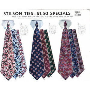 Vintage Mens Necktie Stilson Tie Ad 1940'S 8X11 A3 - The Best Vintage Clothing