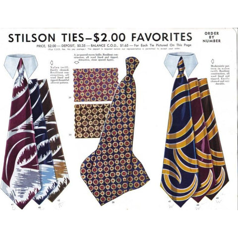 Vintage Stilson Mens Neck Tie  Ad 1940'S 8X11 - The Best Vintage Clothing