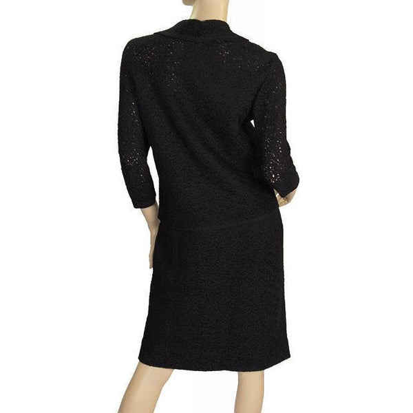 Vintage Vienna Model Wool  Soutache Suit Black 1950S 32-28-36 - The Best Vintage Clothing  - 5