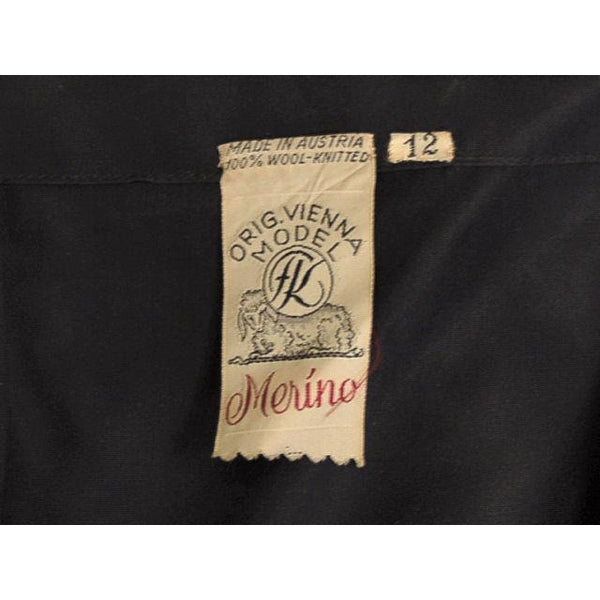 Vintage Vienna Model Wool  Soutache Suit Black 1950S 32-28-36 - The Best Vintage Clothing  - 7