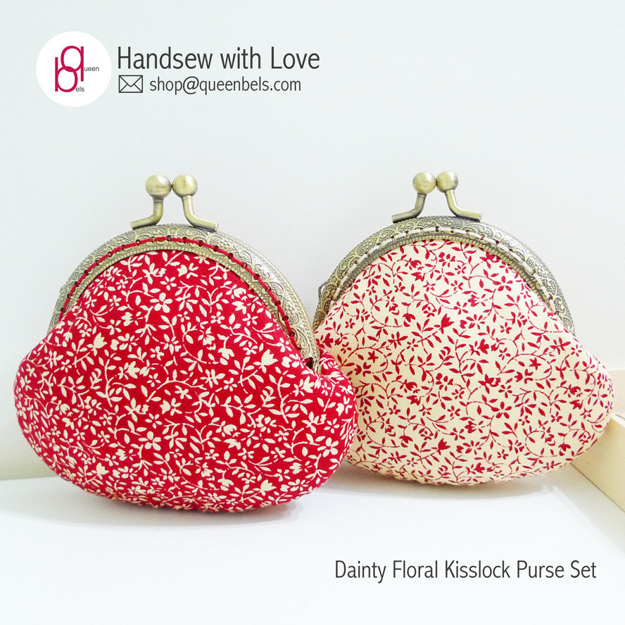 Dainty Floral Kisslock Purse Set