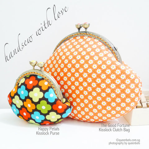 Happy Petals Kisslock Purse and The Good Fortune Kisslock Clutch Bag