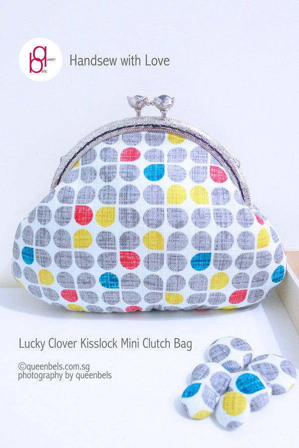 Lucky Clover Kisslock Mini Clutch Bag