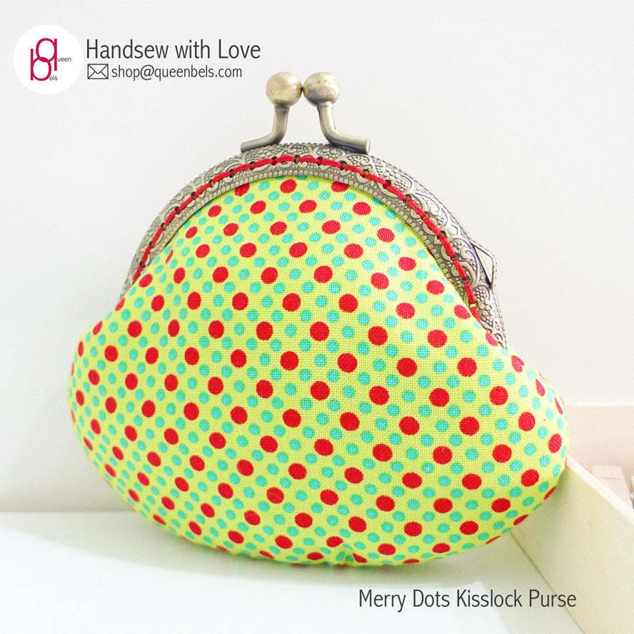 Merry Dots Kisslock Purse