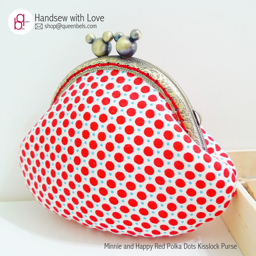 Minnie and Happy Red Polka Dots Kisslock Purse