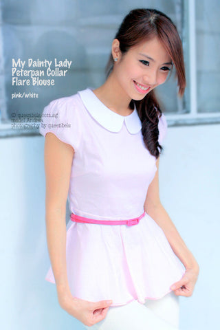 My Dainty Lady Peterpan Collar Peplum Blouse