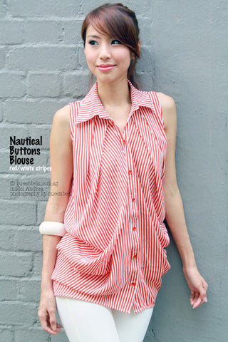 Nautical Buttons Blouse