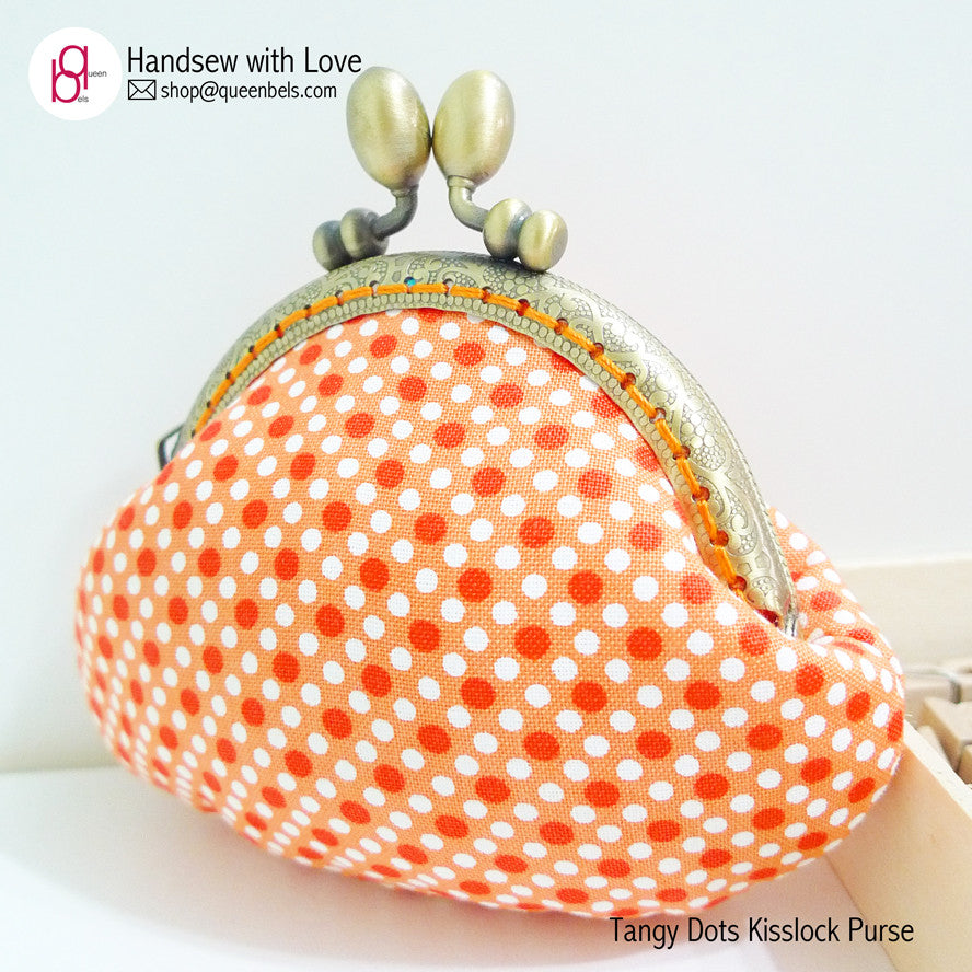 Tangy Dots Kisslock Purse