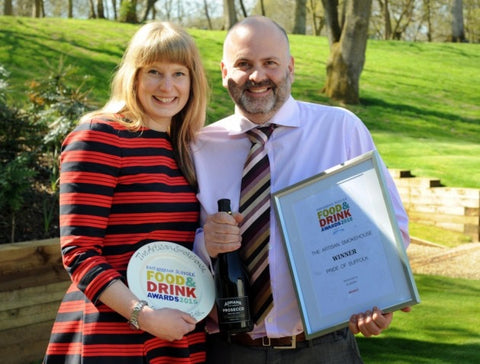 Image of Artisan Smokehouse winning at Suffolk Food & Drink Awards