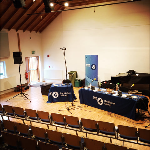 Snape's Recital Room used for BBC Radio 4 The Kitchen Cabinet - The Artisan Smokehouse