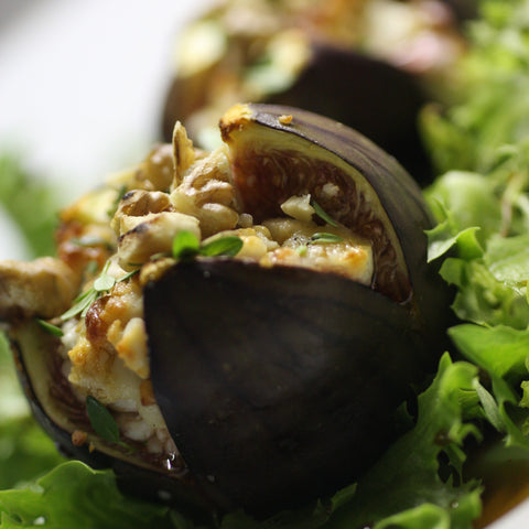 Image of Fresh Figs Stuffed With Smoked Stilton or Goats Cheese & Walnuts - The Artisan Smokehouse