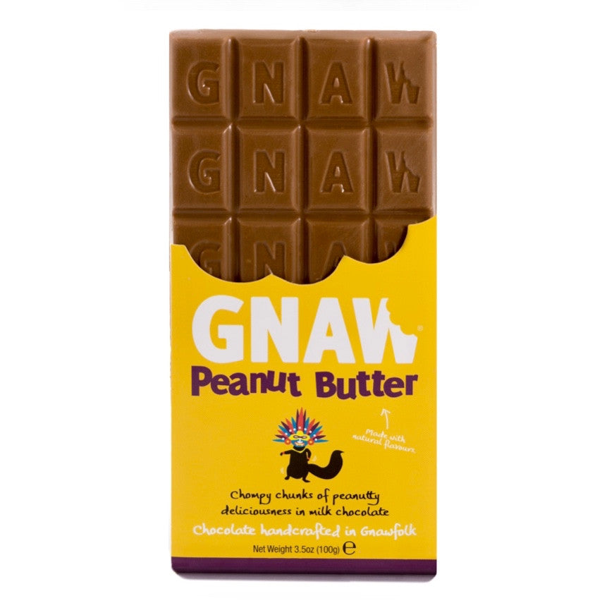 Image of Gnaw Peanut Butter Milk Chocolate Bar