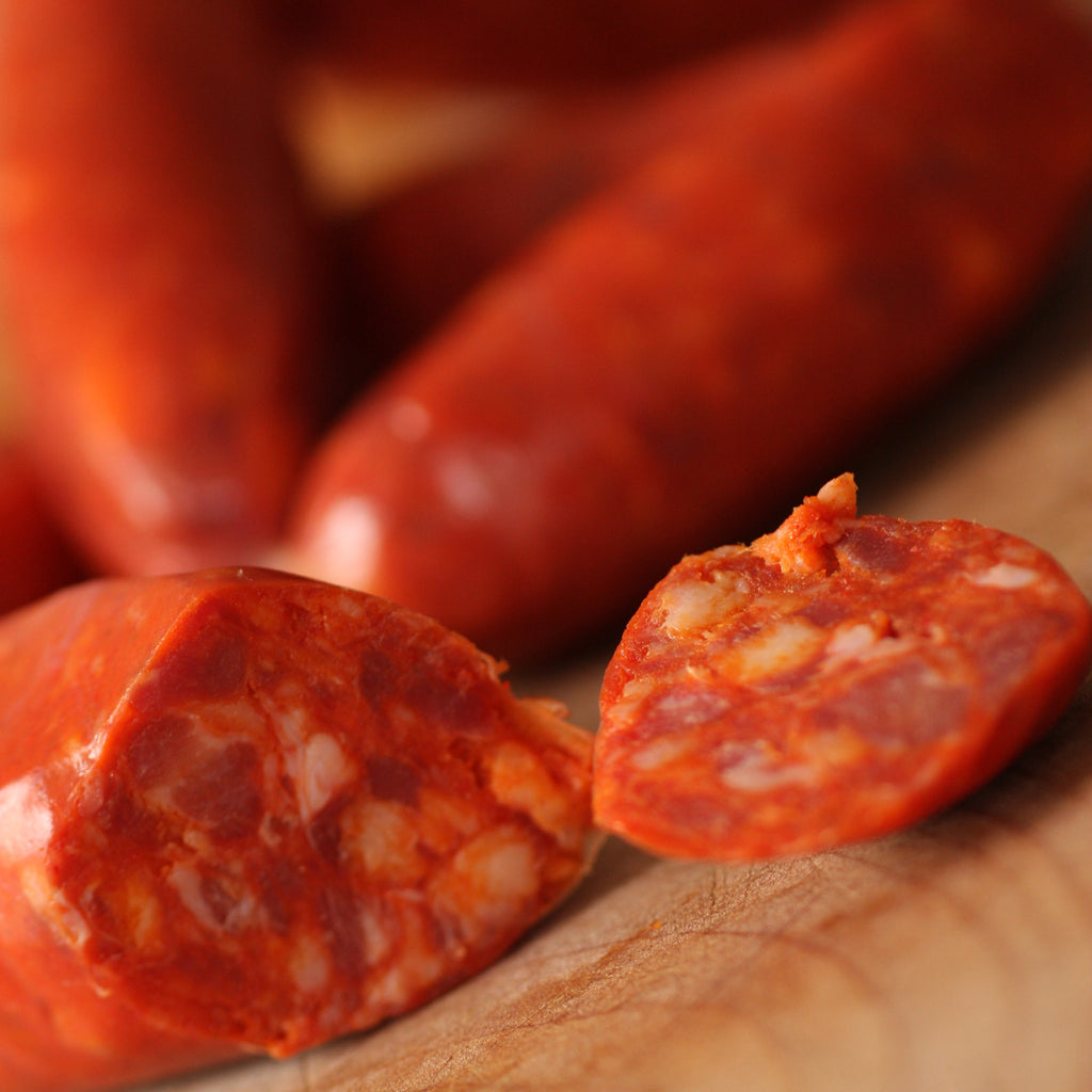 Image of Chorizo Picante (cooking) - The Artisan Smokehouse