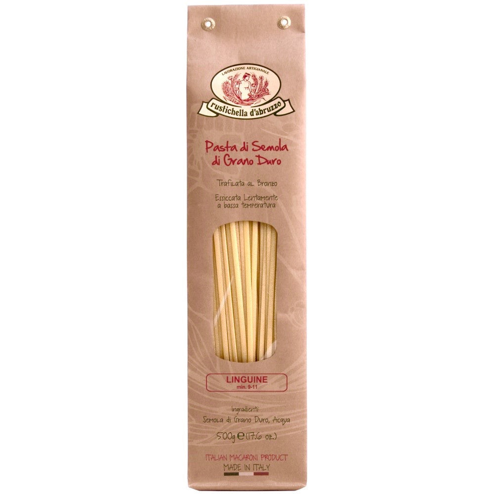 Image of dried linguine pasta