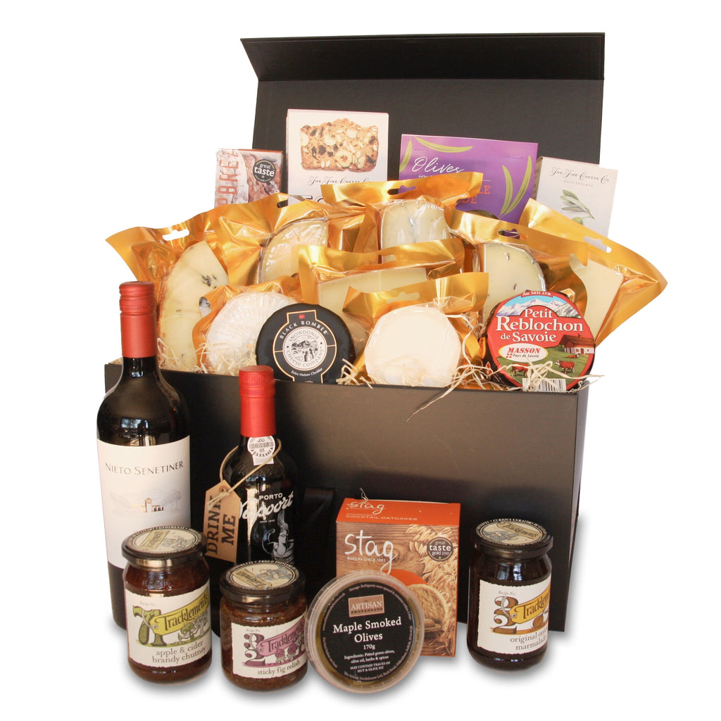 Image of The Gourmet Cheese & Wine Hamper - Artisan smokehouse