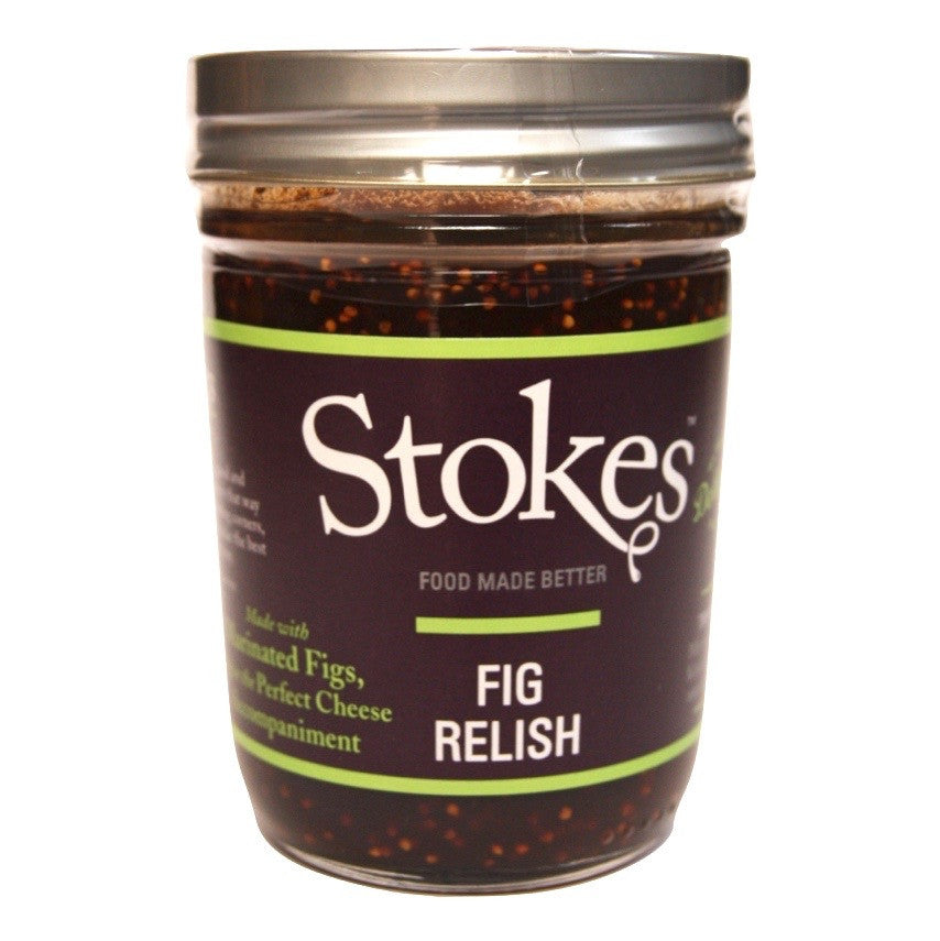 A jar of Stokes Fig Relish