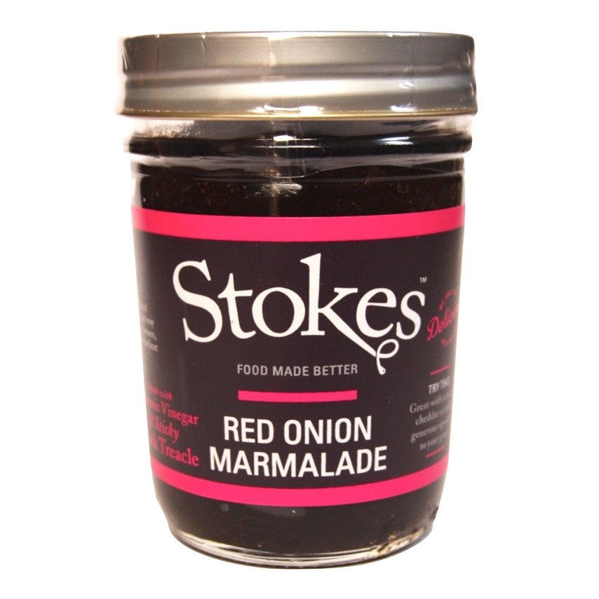 A jar of Stokes Red Onion Marmalade