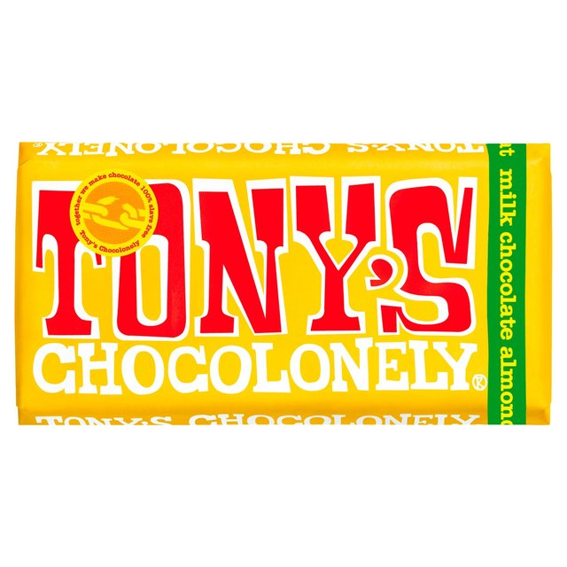 Image of Tony's Chocolonely Fairtrade Milk Chocolate bar with Almond Honey Nougat