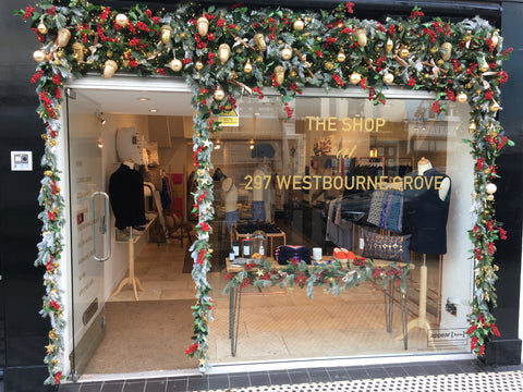 Westbourne Grove Christmas Pop Up Shop Menswear Nehru Gilet Nehru jacket Shirts silk ties printed ties boxer shorts gifts for men