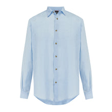 Skye Linen Shirt • Sea Blue