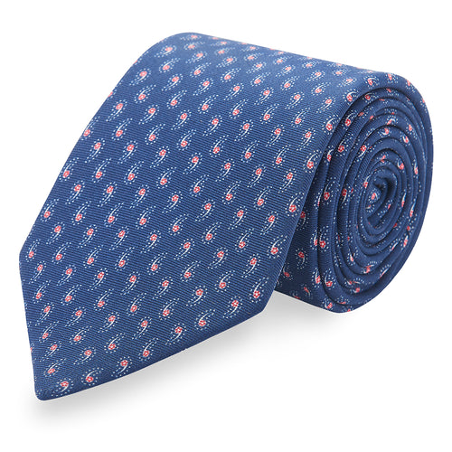 Tiny Paisley Silk Tie • Navy