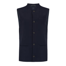 Thurlow • The Navy Lambswool Nehru Gilet