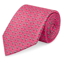 Marmaduke London luxury printed silk ties. Made in England from our hand drawn prints. Luxury menswear and accessories. Luxury gifts for men. Each tie comes giftwrapped. Ideal for weddings. Wedding ties. Printed Silk Tie.