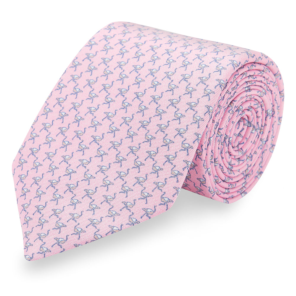 Ostrich Silk Tie • Light Pink