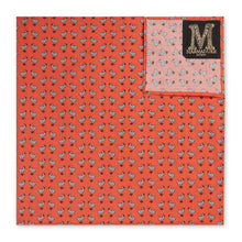 Marmaduke Squares are Hand Made from our hand drawn prints. Luxury menswear and mens accessories. Designed to be used as either a Handkerchief or Pocket Square.  Create the perfect gift by monogramming and personalise with his initials
