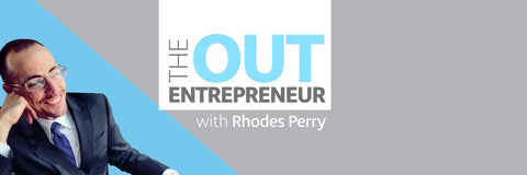 Podcast Out Entrepreneur host Rhodes Perry for interview with Gina Pecoraro from LGBT clothing company Seven Even Clothing episode 30