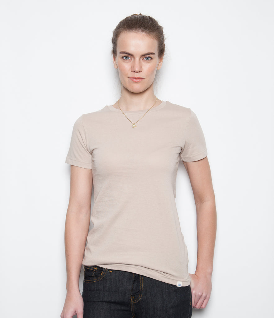 Women's <br/>19.50sw fitted crew <br/>sand