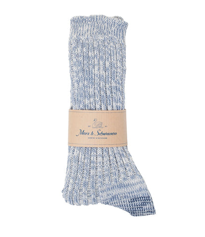 271 cotton socks<br/>blue mel.