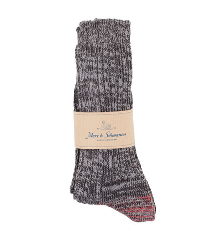 271 cotton socks<br/>black-grey