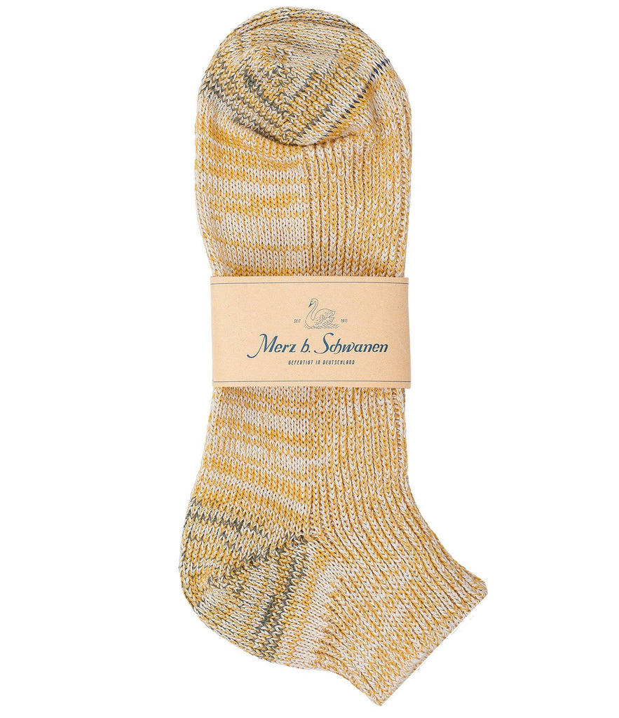 274 cotton sneaker socks<br/>yellow mel.