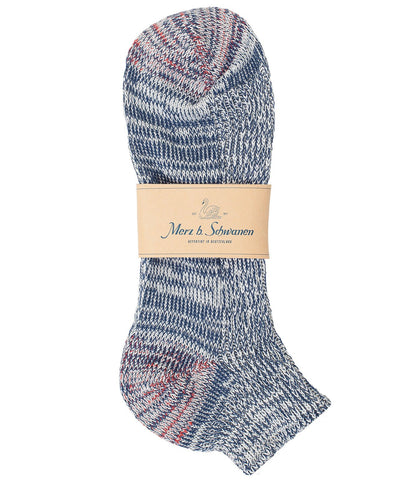 274 cotton sneaker socks<br/>navy mel.