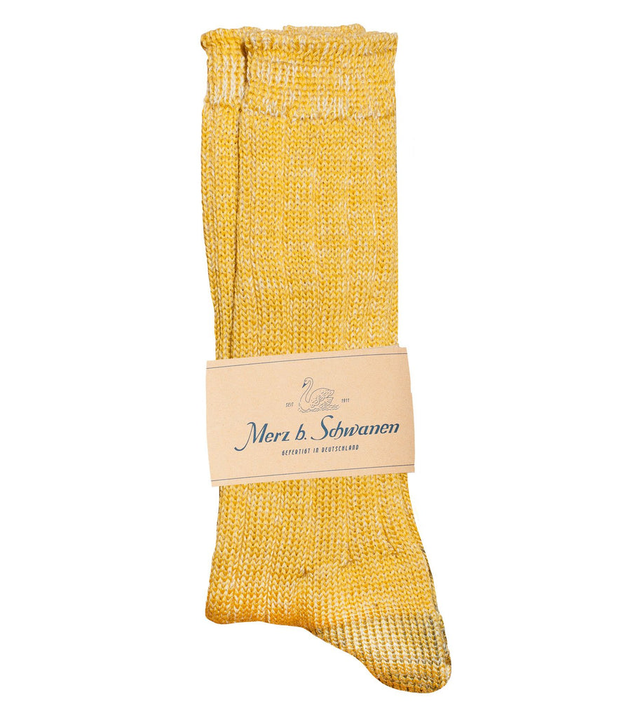 W72 merino wool socks<br/>yellow mel.