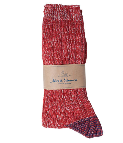 Unisex  <br/>W72 merino wool socks <br/>red mel.