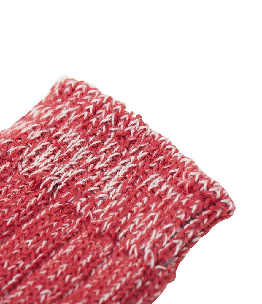 W72 merino wool socks<br/>red mel.