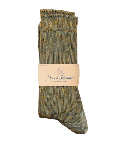 W72 merino wool socks<br/>army-yellow