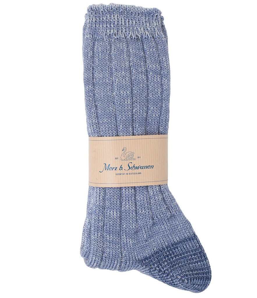 W72 merino wool socks<br/>blue mel.