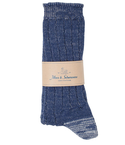 W72 merino wool socks<br/>navy-grey