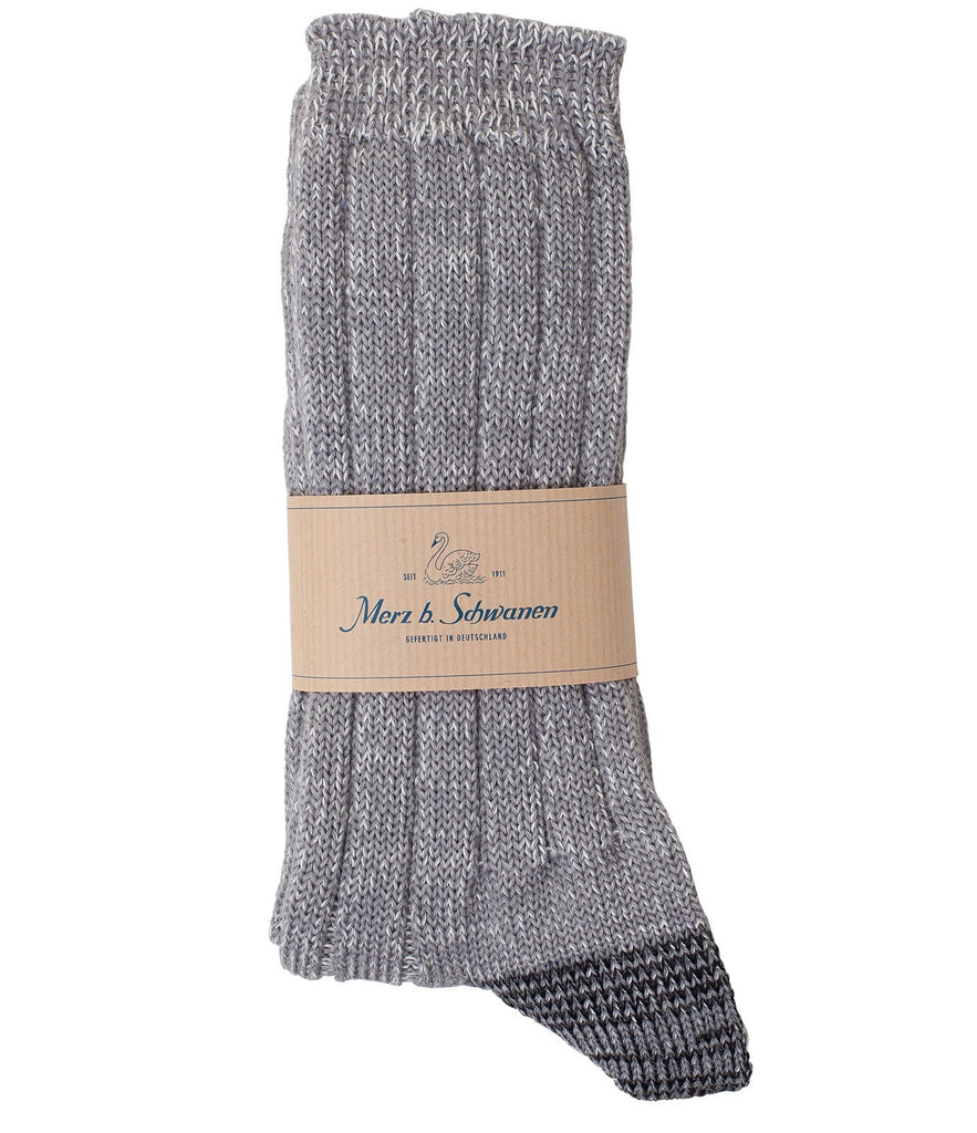 W72 merino wool socks<br/>grey mel.
