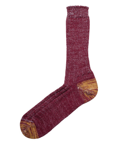 W72 merino wool socks<br/>dark red nature