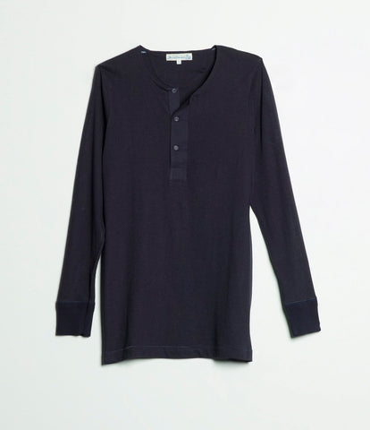 Men's <br/>102 button border shirt long sleeve <br/>dark navy