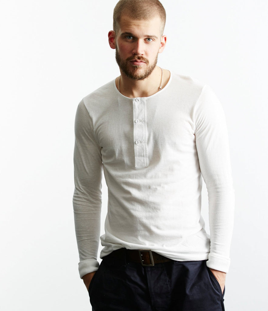 102 button border shirt long sleeve<br/>white