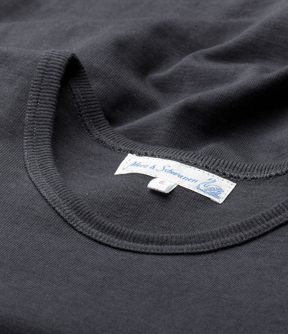 2S16 crew-neck T-shirt heavy<br/>charcoal