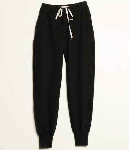3S58 sweatpants long<br/>deep black